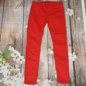 7 for all mankind red skinny Jeans